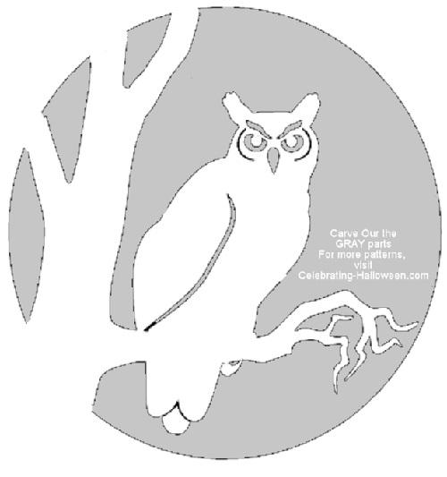 A stockpile of stencils minnetonka breezes for Simple owl pumpkin pattern