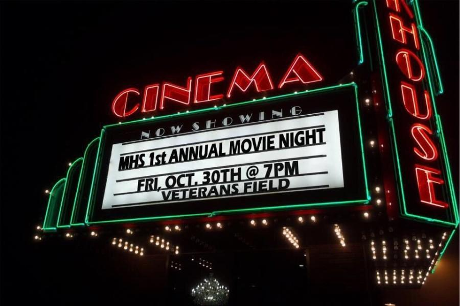 Halloween movie night on Veterans Field
