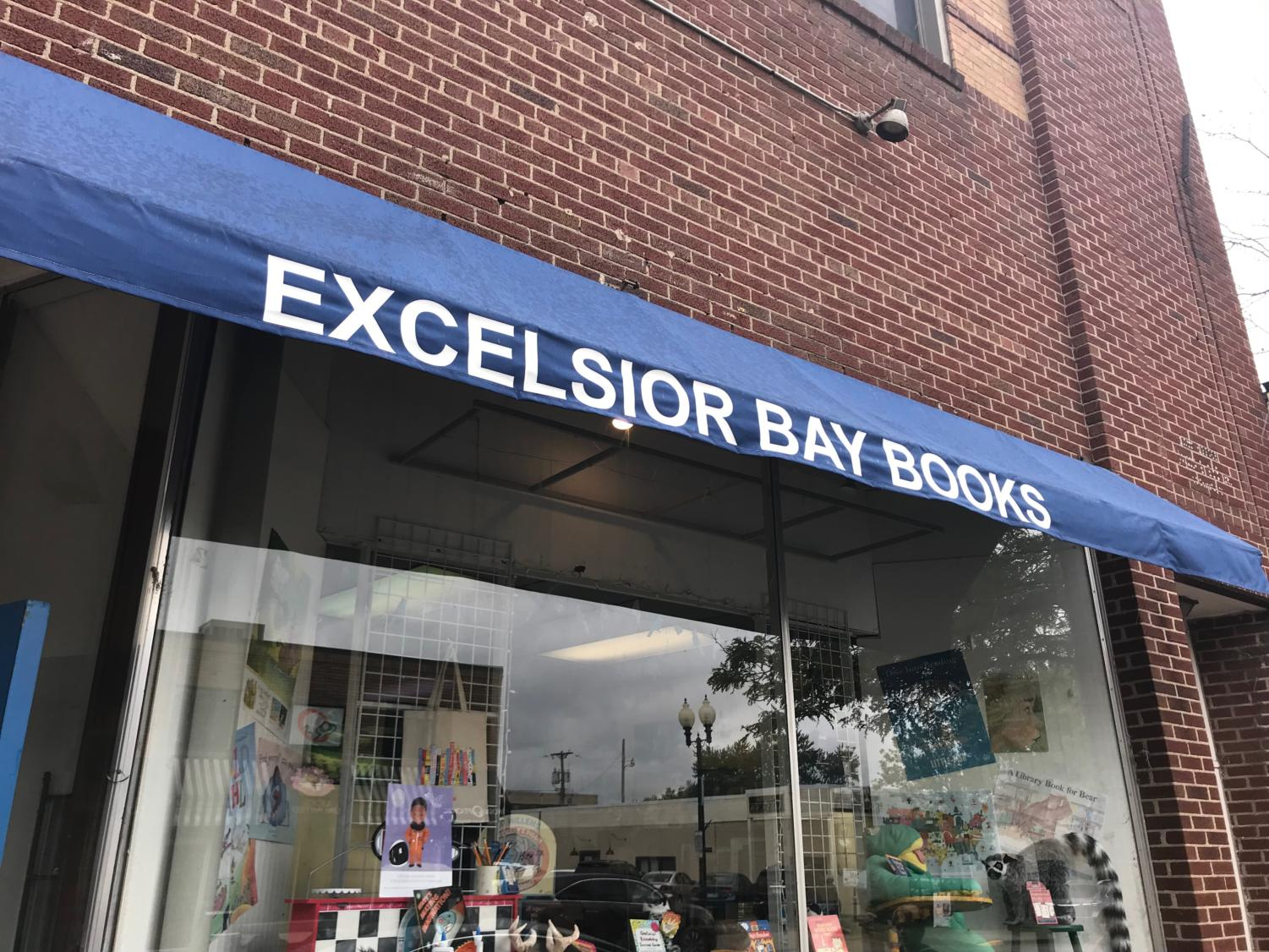 Excelsior Books shows off stuffed animals, toys, merchandise, and of course, books our front.